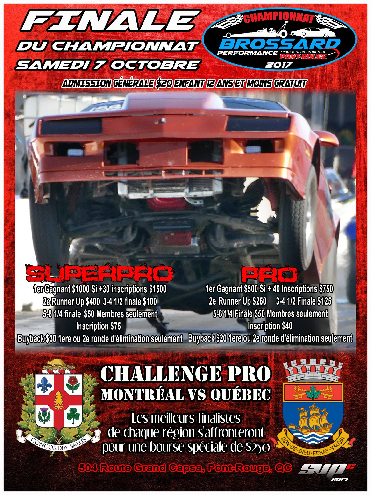 Super-Pro + Pro + Muscle Car Championnat Brossard Performance Manche 11/11